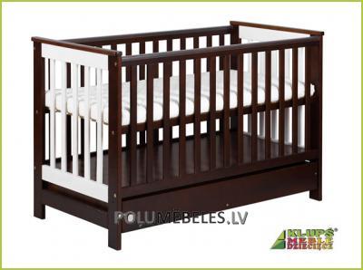 KLUPS Bērnu gultiņa 120 ar nolaižamu