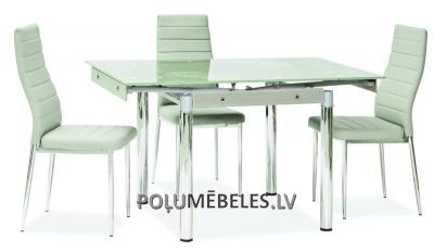 SIGNAL Stikla galds izvelkams GD-082 (balts)