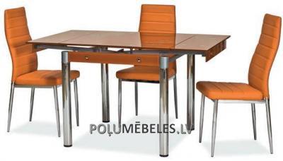 SIGNAL Stikla galds izvelkams GD-082 (oranžs)