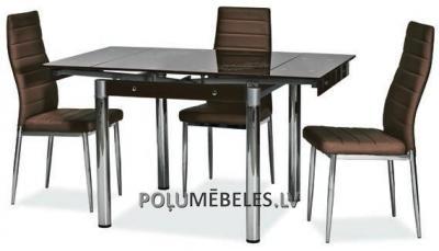 SIGNAL Stikla galds izvelkams GD-082 (brūns)