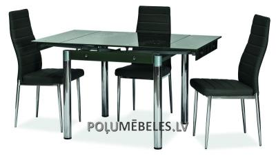 SIGNAL Stikla galds izvelkams GD-082 (melns)