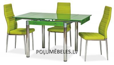 SIGNAL Stikla galds izvelkams GD-082 (zaļš)