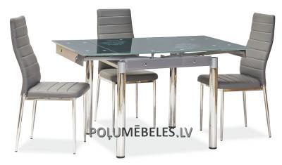 SIGNAL Stikla galds izvelkams GD-082 (pelēks)
