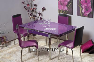SIGNAL Stikla galds izvelkams GD-082 (violets)