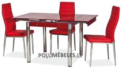 SIGNAL Stikla galds izvelkams GD-082 (sarkans)